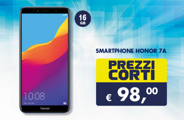 La nuova Offerta Smart di Esselunga porta Honor 7A sotto ai 100 euro