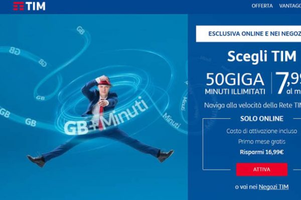 TIM Steel, la operator attack con 50 GB e minuti illimitati a 7,99 euro disponibile online